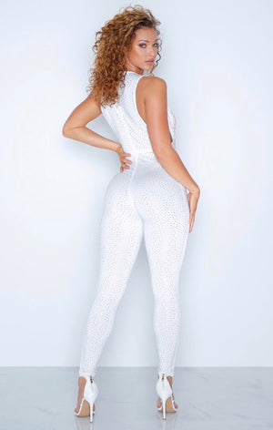 White Crystal Jumpsuit
