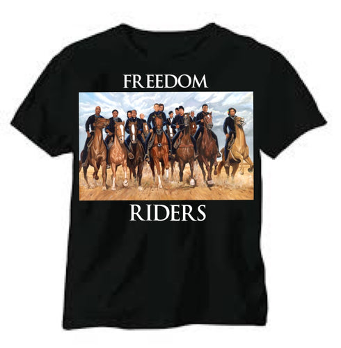 Freedom Riders Short Sleeve Black Shirts