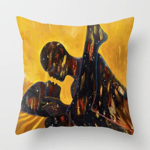 Fire & Desire Pillow | Kolongi Brathwaite Art
