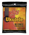 GHS H10 Black Nylon Hawaiian Ukulele 4 String Set