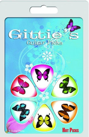 Gitties Picks Butterfly Clamshell