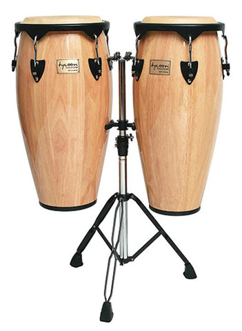 Tycoon 10-11 Congas Natural with  Stand