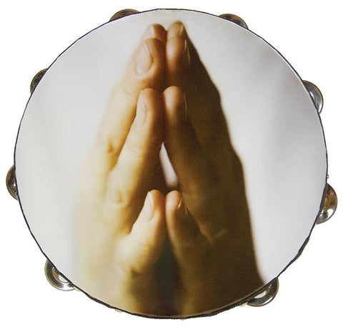 "ATMHND10 Zebra 10"" Tambourine Praying Hands"