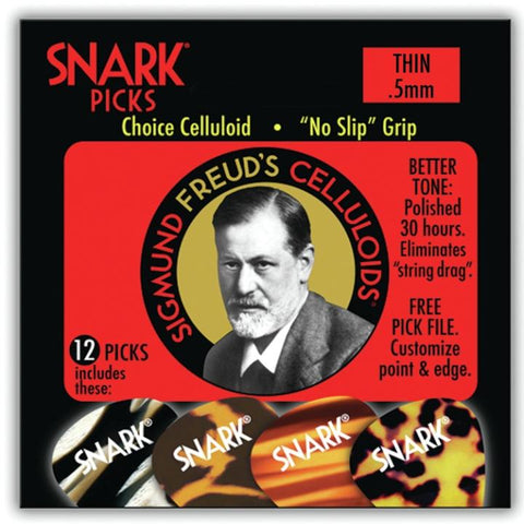 50C Snark Freud Celluloids .5mm Thin 12 pack