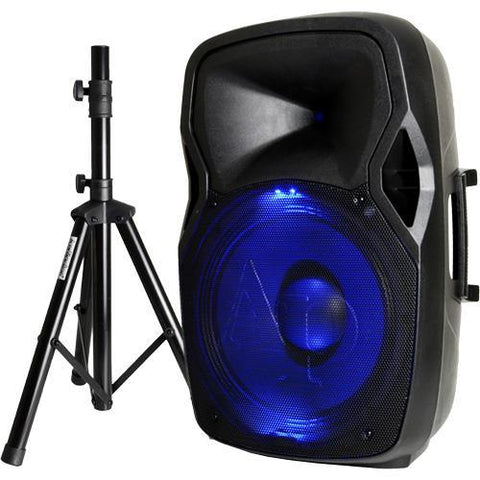 DJAP1567ACMB  Audiopipe 15in Illuminated Bluetooth Cabinet and Stand Pack