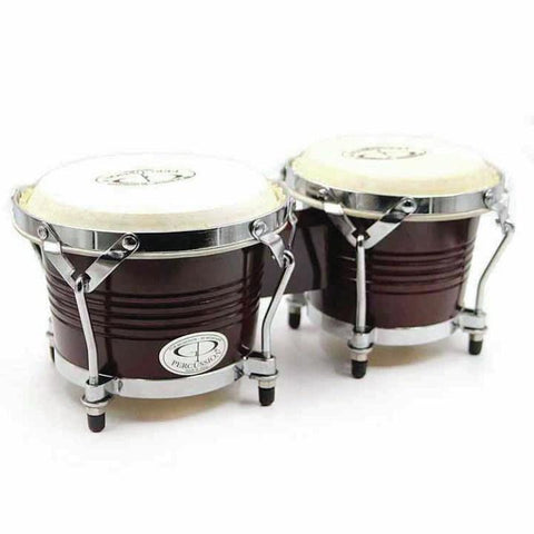 GP Percussion Z-BRW2 Dark (Old Style) Wood Bongo
