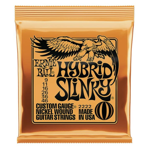 2222 Ernie Ball Hybrid Slinky Nickel Wound Electric Guitar Strings