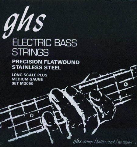 M3050 GHS Flatwound Medium Electric Bass Strings
