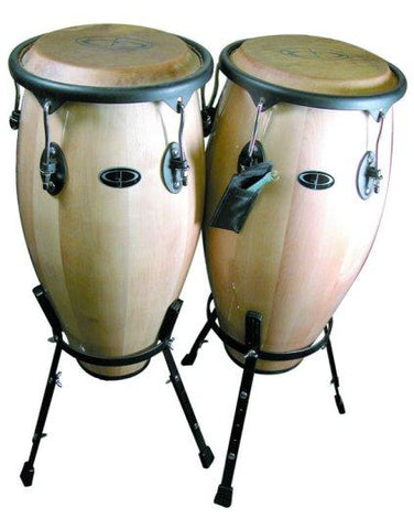 WDC31S GP Percussion Tunable Wood Conga Set with Stand