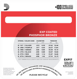 EXP17 D'Addario Medium Phosphor Bronze Acoustic Strings