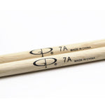 GPDS7A GP Percussion Oak Drumstick 7A Wood Tip