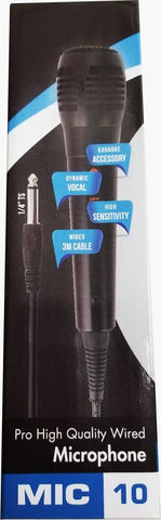 OW-MIC-10   Street Hopper Wired Karaoke Vocal Microphone