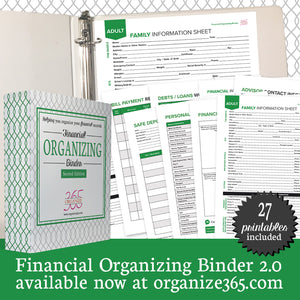 Financial Organizing Binder - US Only