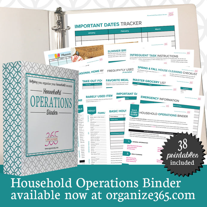 Household Operations Binder - US Only