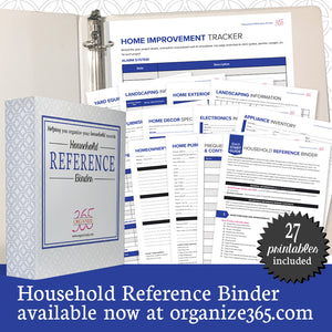 Household Reference Binder - US Only