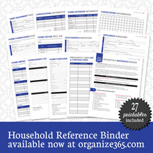 Household Reference Binder - International