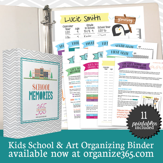 Kid's School Memory Binder - US Only