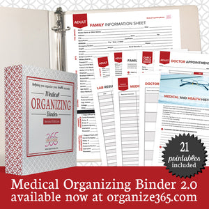 Medical Organizing Binder - US Only