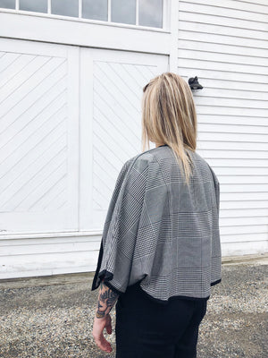 The Bessy Cropped Jacket // Soft Plaid
