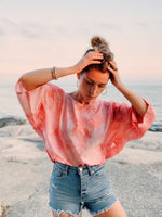 Cropped Cut Bessy // Citrus Sunset