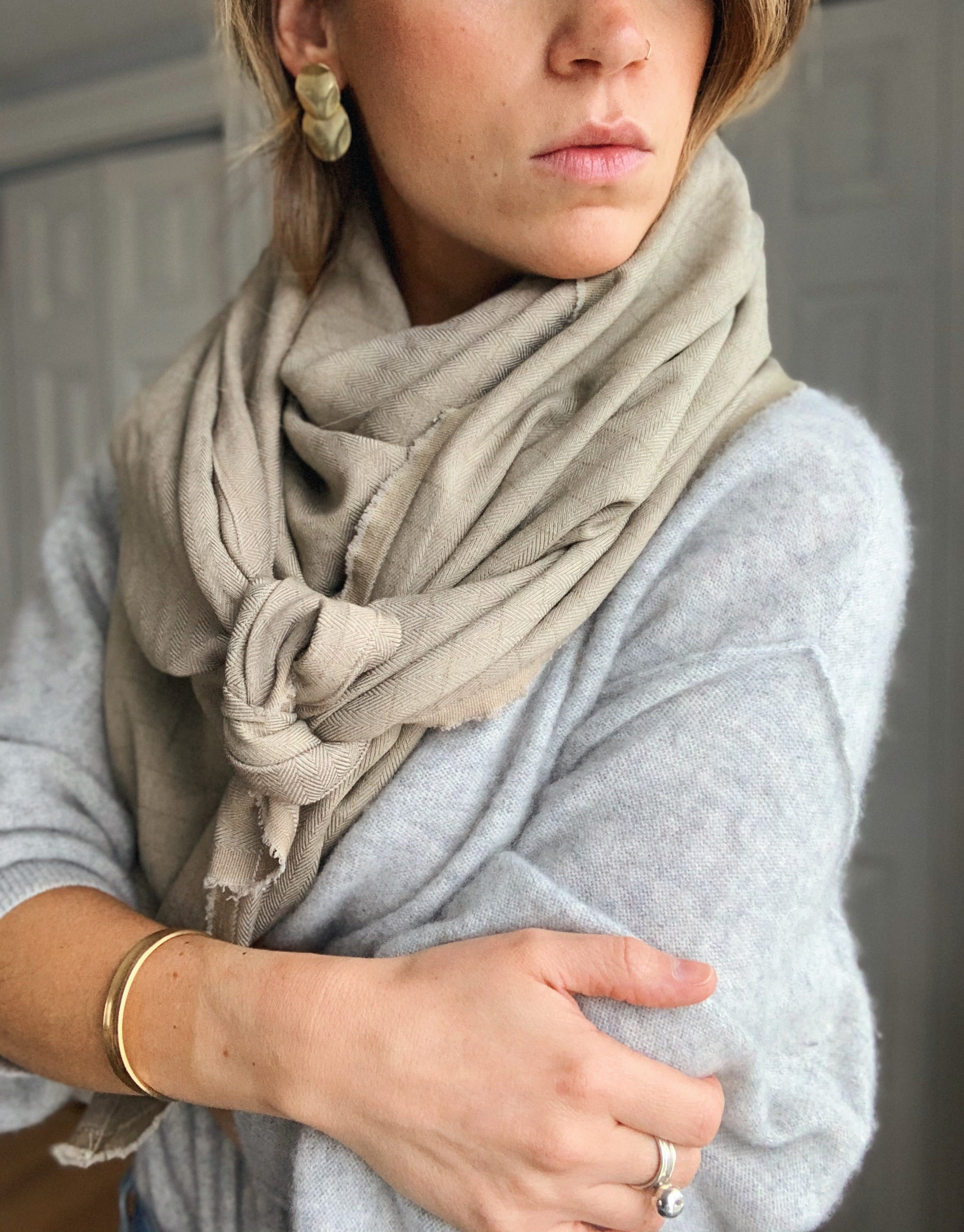 Sheet Scarf // Toasted Almond