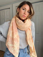 Sheet Scarf // Pale Citrus Burst