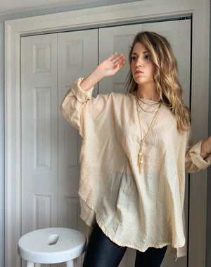 Elly Smock Tunic // Pale Wheaty Peach // Made-To-Order