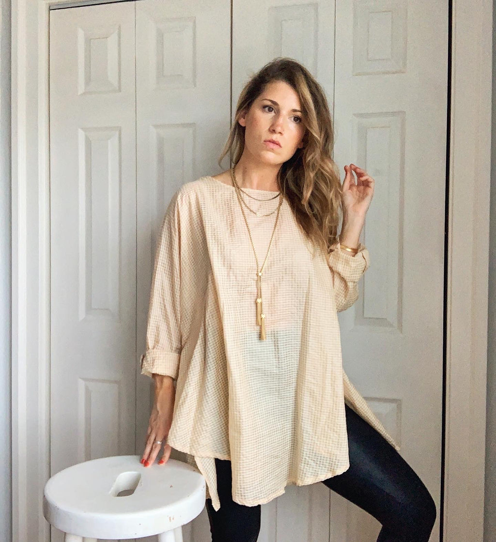 Elly Smock Tunic // Pale Wheaty Peach