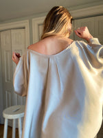 The Anna Dolman // Pale Taupey Silk