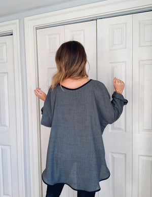 Elly Smock Tunic // Speckled Charcoal