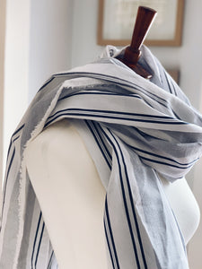 Sheet Scarf // Beachy Striped Cotton