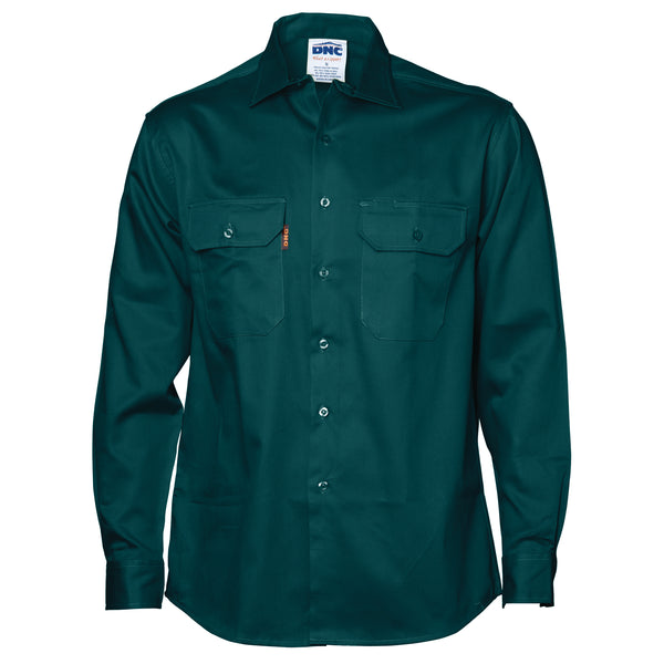 DNC Cotton Drill Work Shirt Long Sleeve