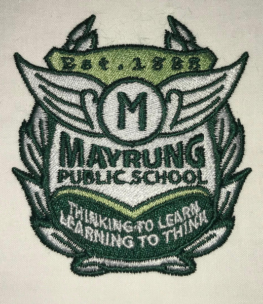V-Neck Tracksuit Jumper - Mayrung Public School - Bottle Green