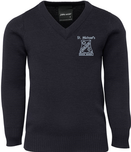 Knitted V-Neck Jumper- St Michael's Primary School