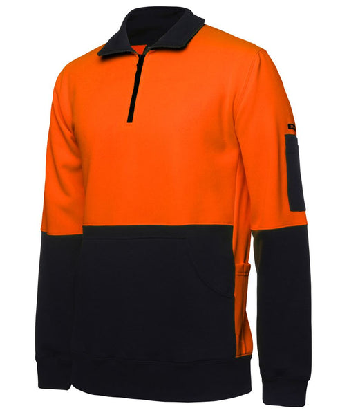 JB'S WEAR - HI VIS 330G 1/2 ZIP FLEECE - 6HVPZ