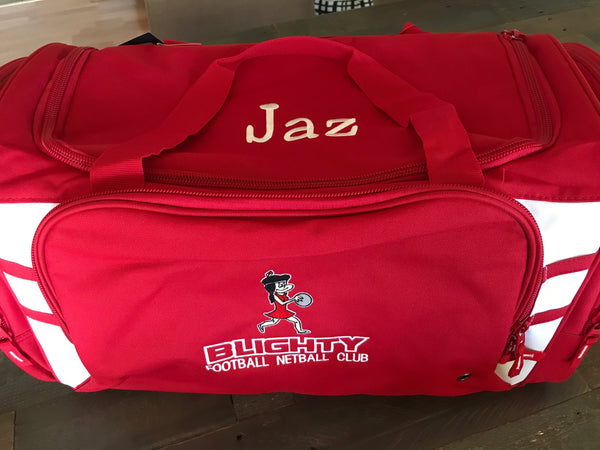 Blighty NETBALL Club Bag ( embroidered )
