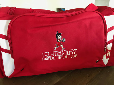 Blighty Football & Netball Club Bag ( embroidered )