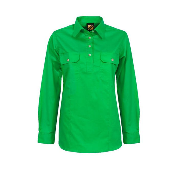 Ladies Cotton Drill Long Sleeve Shirt - NCC