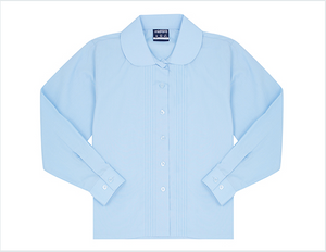 Midford Girls Long Sleeve Pin Tuck School Blouse