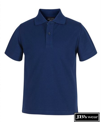 JB's Wear Kids Short Sleeve Polo 2KP - MAYRUNG PUBLIC SCHOOL - Navy EMBROIDERED