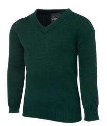 JB's Wear Kids Knitted V-Neck- MAYRUNG PUBLIC SCHOOL- Bottle Green