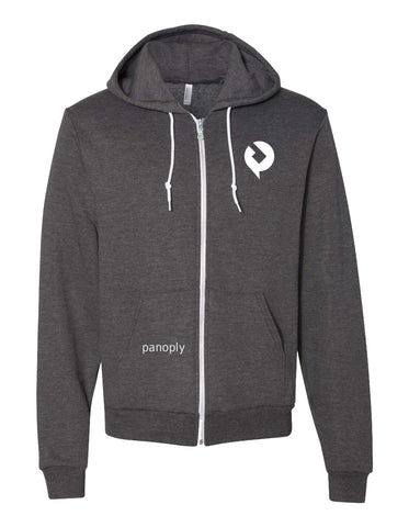 Panoply American Apparel USA-Made Flex Fleece Hooded Full-Zip Sweatshirt
