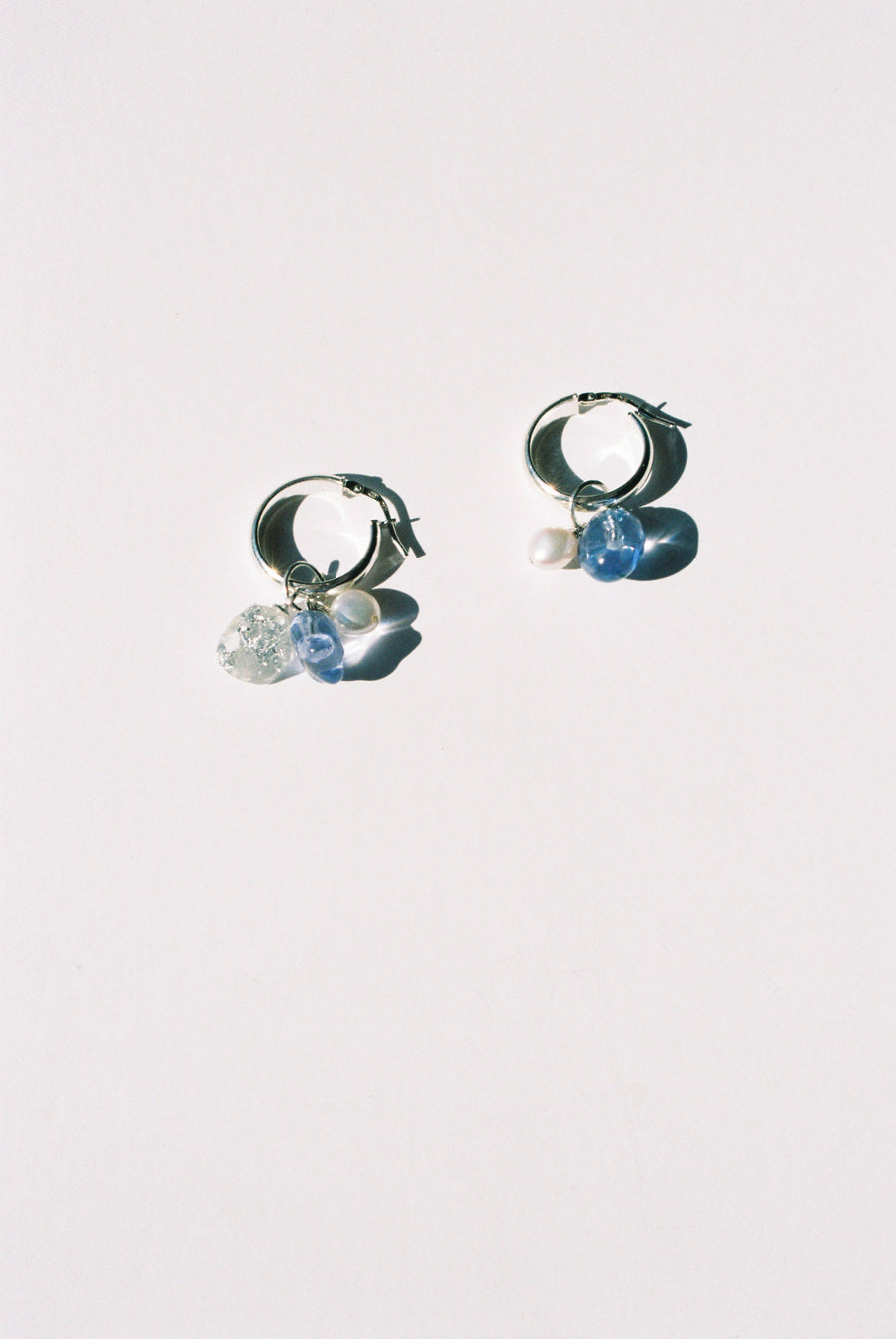 Charm Hoops - Silver