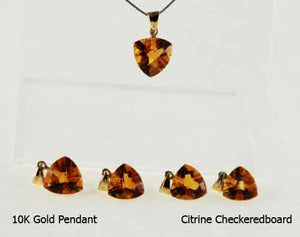 10K Gold Pendant- Citrine gemstone