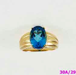 10K Gold Ring - Blue Topaz (Marambia) Gemstones
