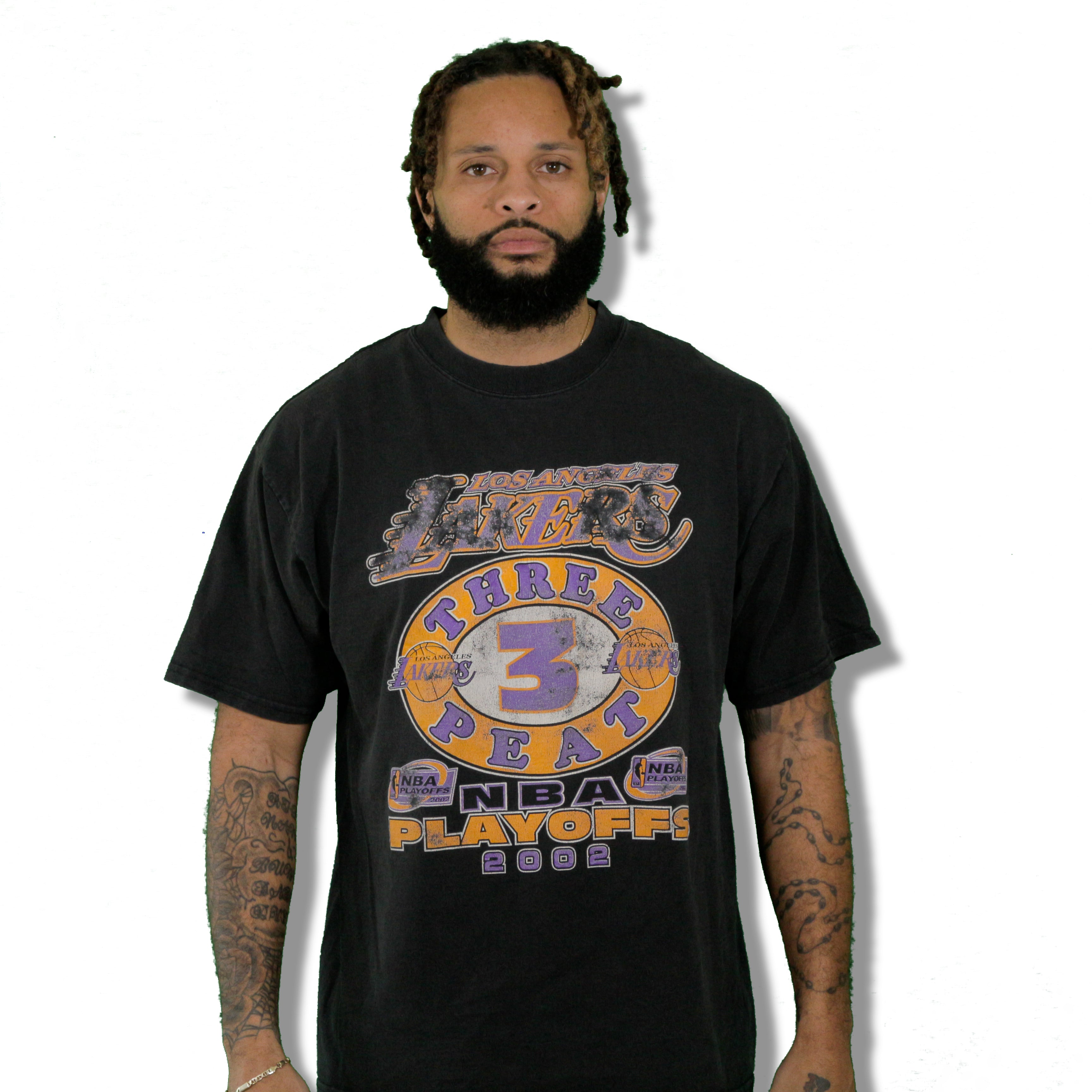 """2002 Lakers 3 Peat "" Limited Edition Vintage T-Shirt"