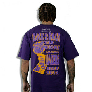 """Back 2 Back Lakers (Purple)"" Limited Edition Vintage T-Shirt"