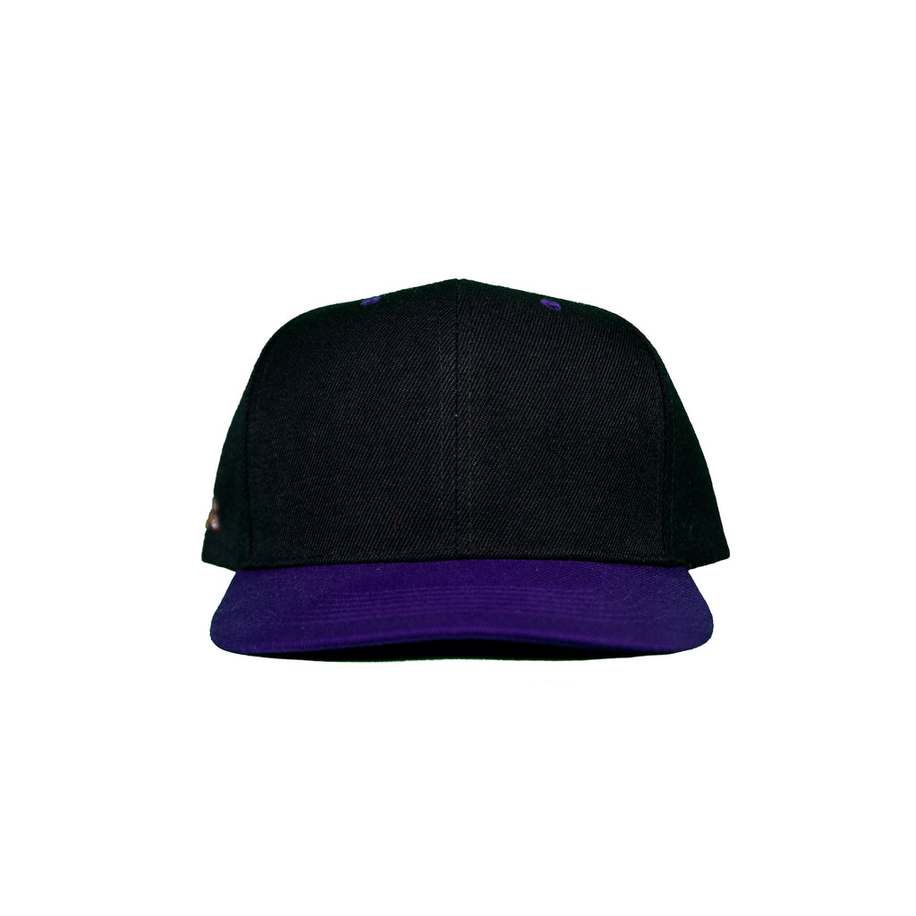 Basic Two-Tone Snap Back in Black And Purple