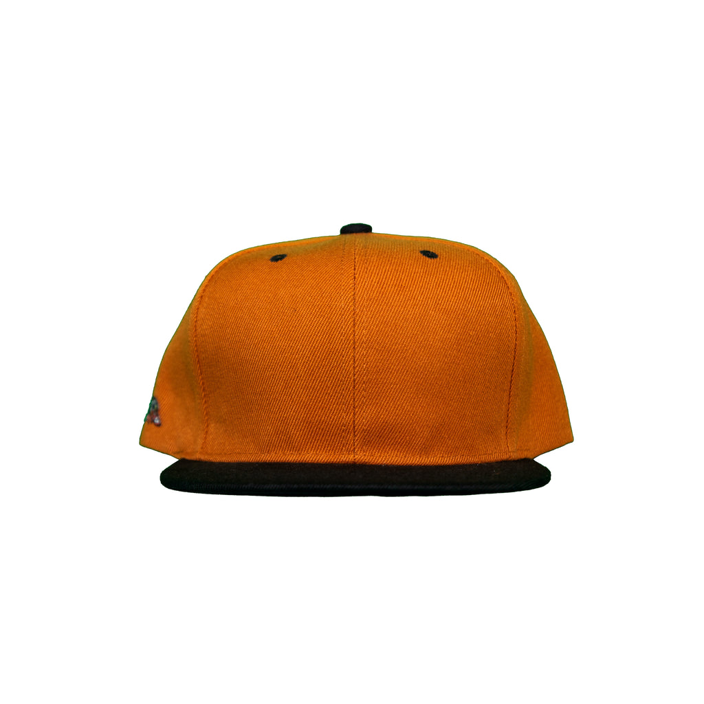 Basic Two-Tone Snap Back in Burnt Orange And Black