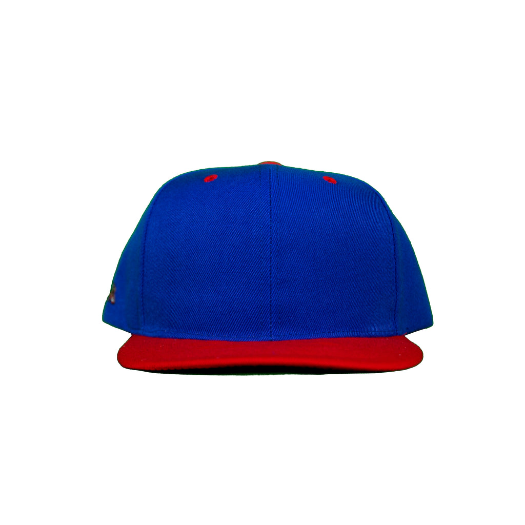 Basic Two-Tone Snap Back in Royal And Red
